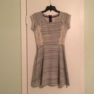 Gray fit and flare dress
